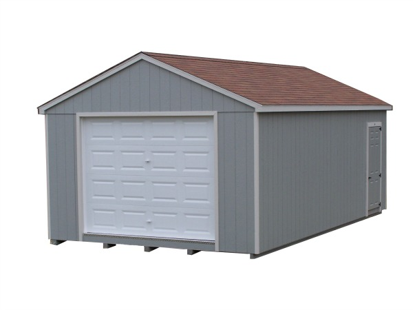 Painted A-Roof garage