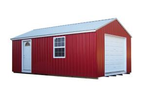 Metal A-Roof Garage