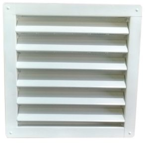 White 12x12 Gable Vent for sheds